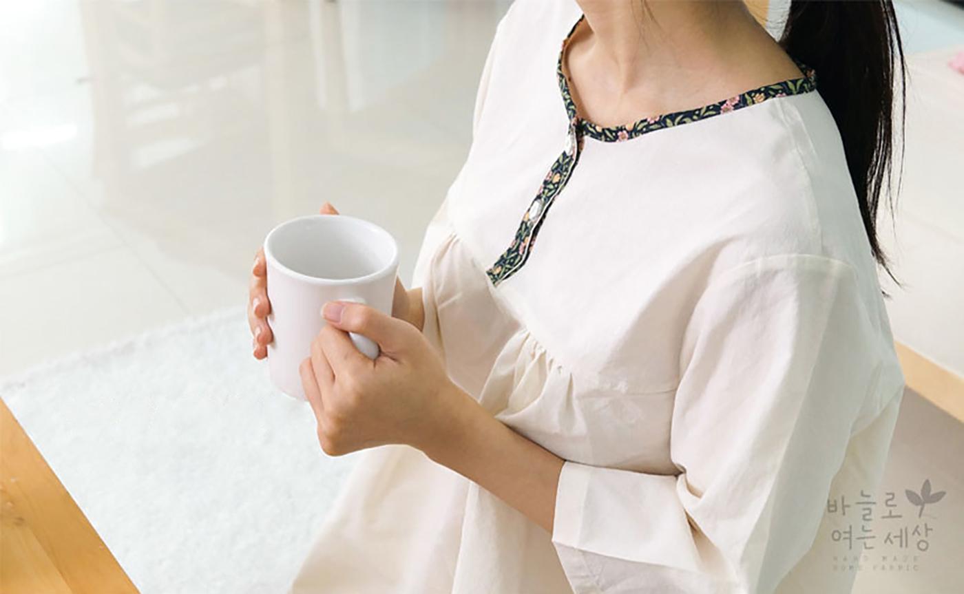 여성 광목잠옷 상하의 실내복 홈웨어(수수한 들꽃) 상세이미지1