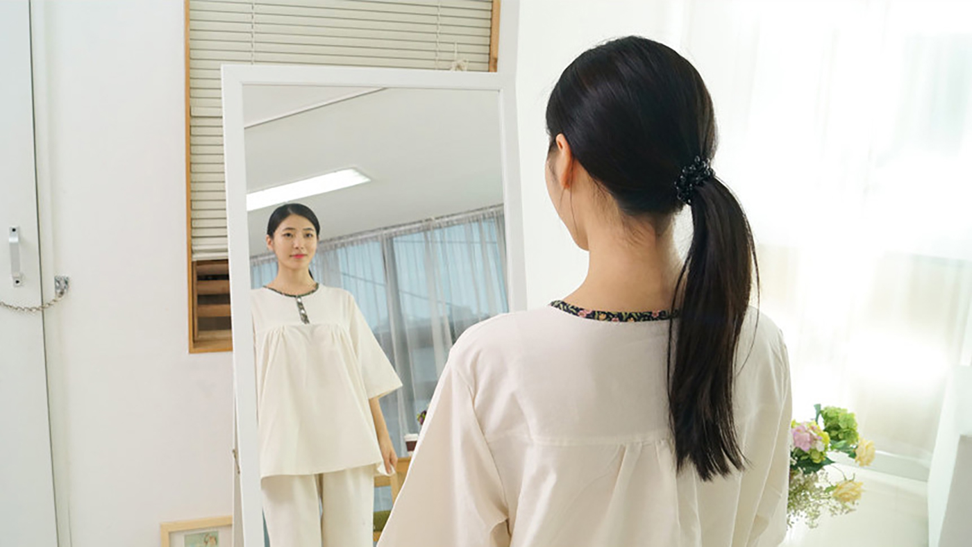 여성 광목잠옷 상하의 실내복 홈웨어(수수한 들꽃) 상세이미지4