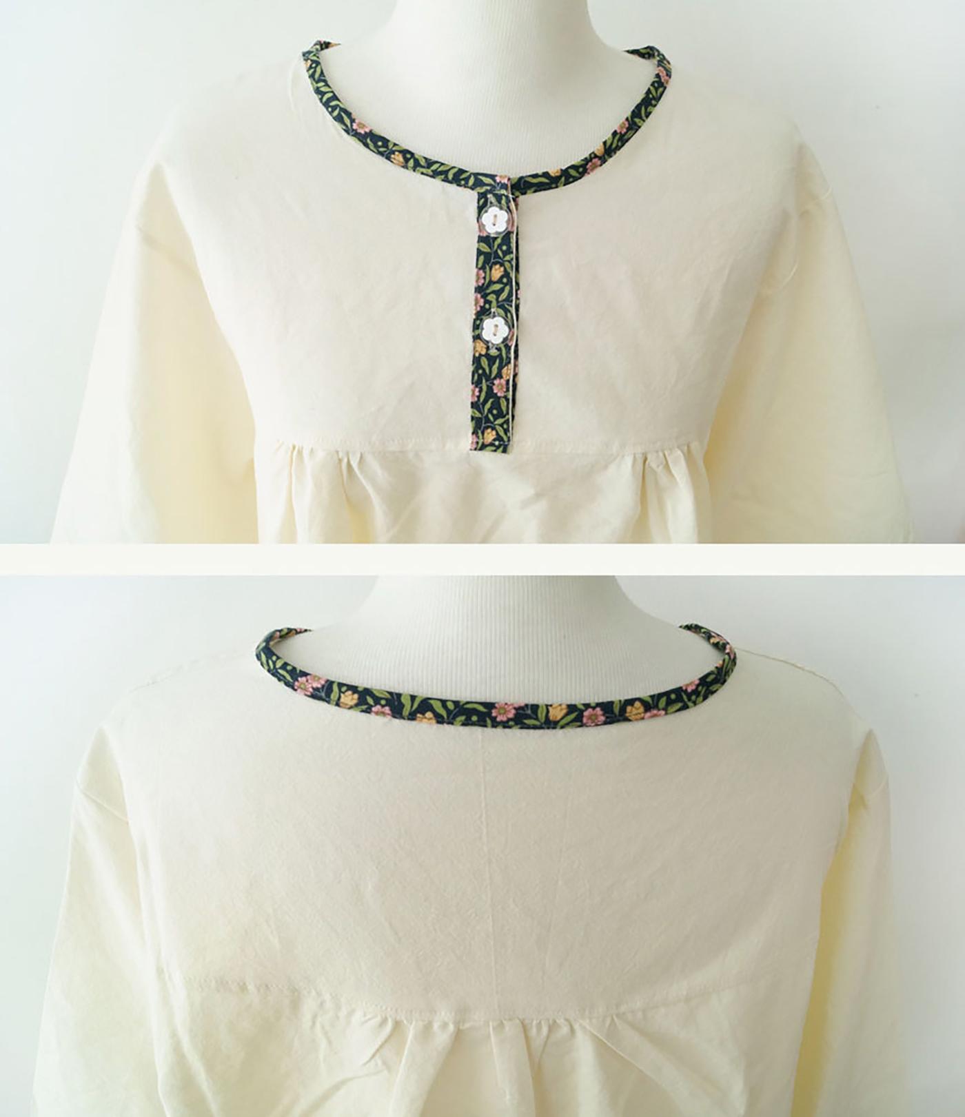 여성 광목잠옷 상하의 실내복 홈웨어(수수한 들꽃) 상세이미지5