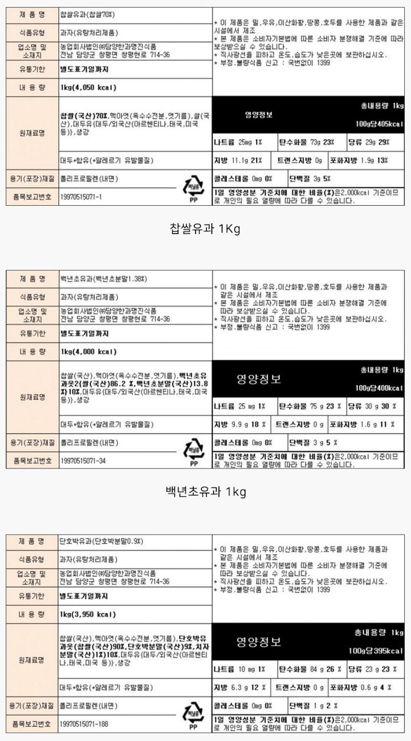 조청에 버무린 찹쌀 단호박 (낱개/1kg) 상세이미지11