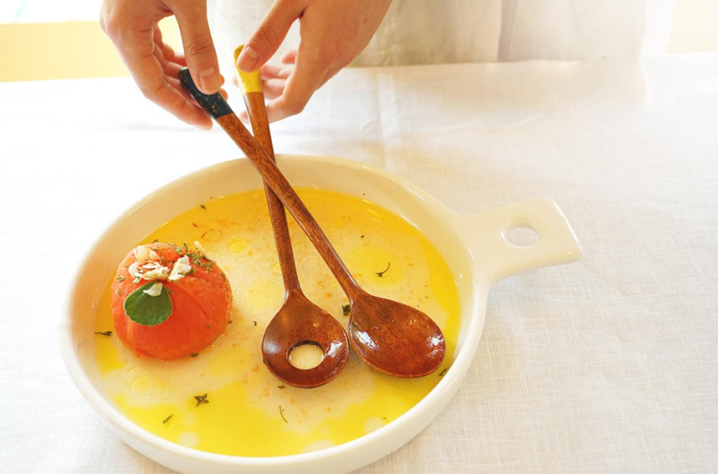 천연 옻칠 샐러드 요리 숟가락 상세이미지3