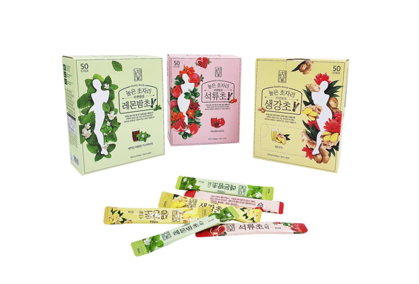 자연발효 발아현미초·석류초·생강초 식초 음료 세트 상세이미지1