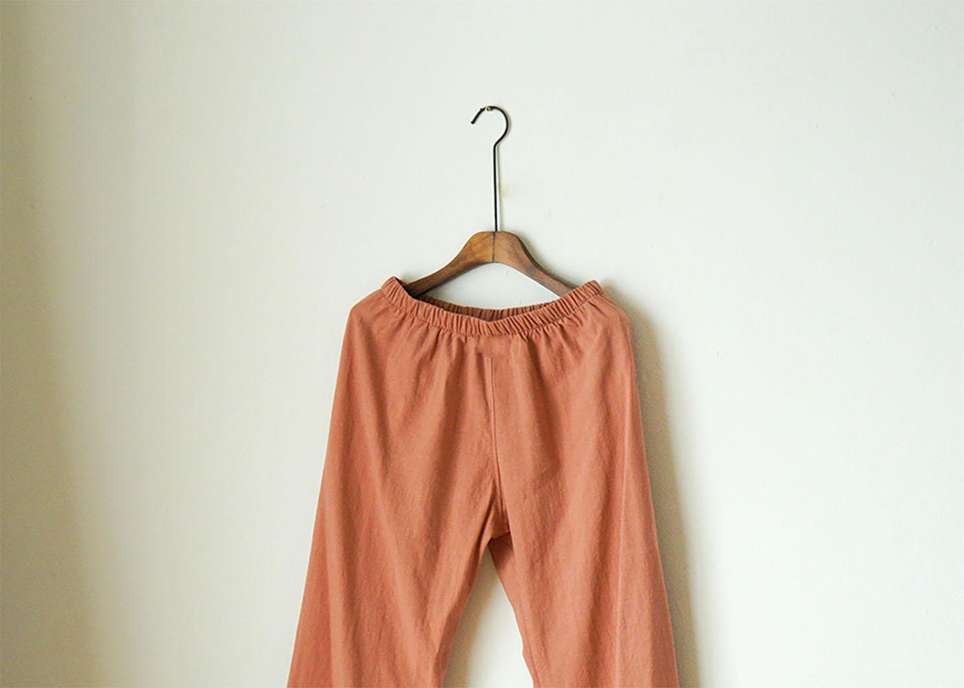 여성 광목잠옷 실내복 긴팔 상하의(핑크) 상세이미지6