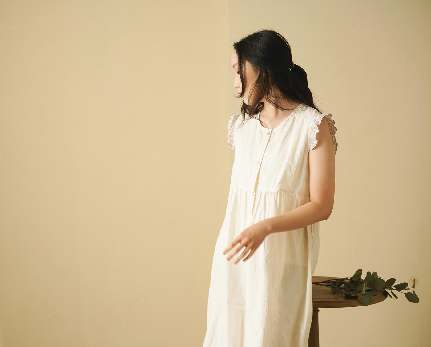 핸드메이드 광목 여성 실내복 민소매 원피스/100% 핸드메이드 광목 여성 실내복 민소매 원피스 상세이미지4