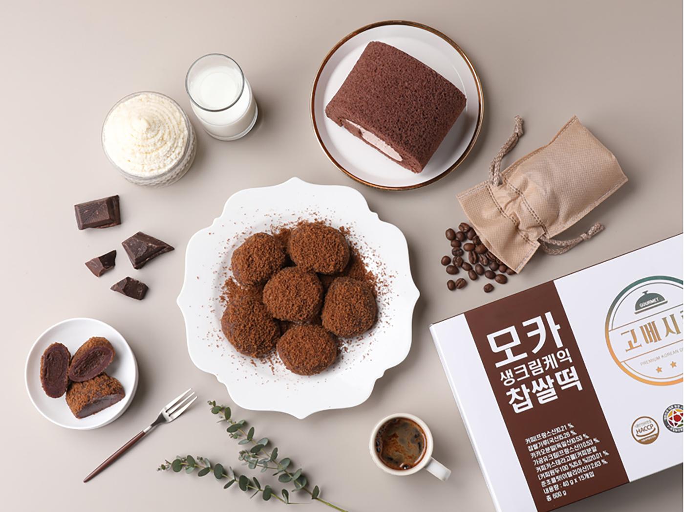 굳지 않는 모카 생크림 케익 모찌 찹쌀떡 (15입) 상세이미지2