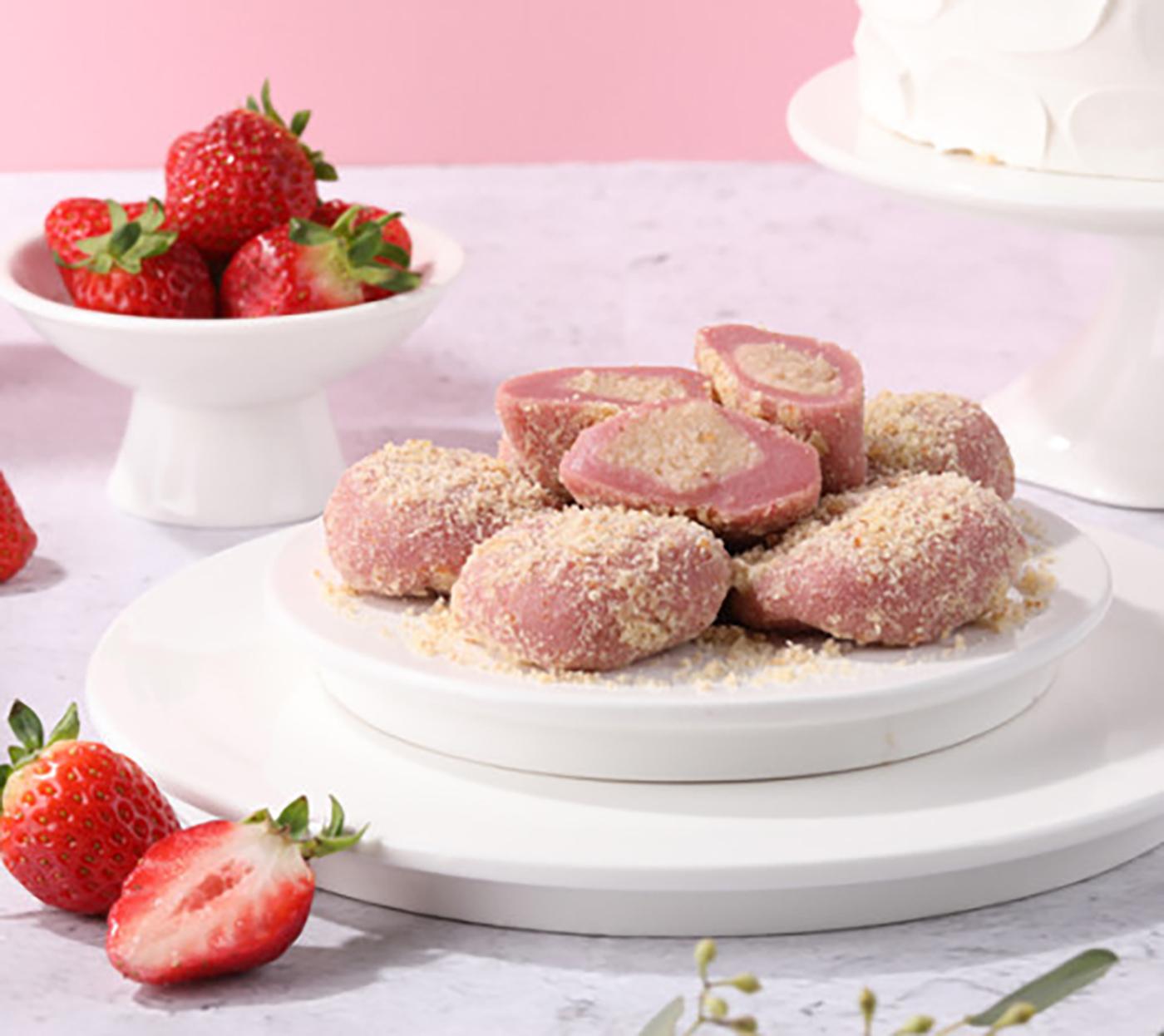 굳지 않는 딸기 생크림 케익 모찌 찹쌀떡 (15입) 상세이미지6