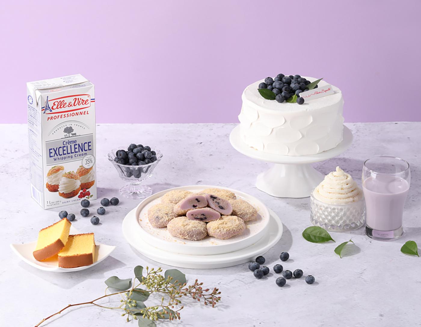 굳지 않는 블루베리 생크림 케익 모찌 찹쌀떡 (15입) 상세이미지1