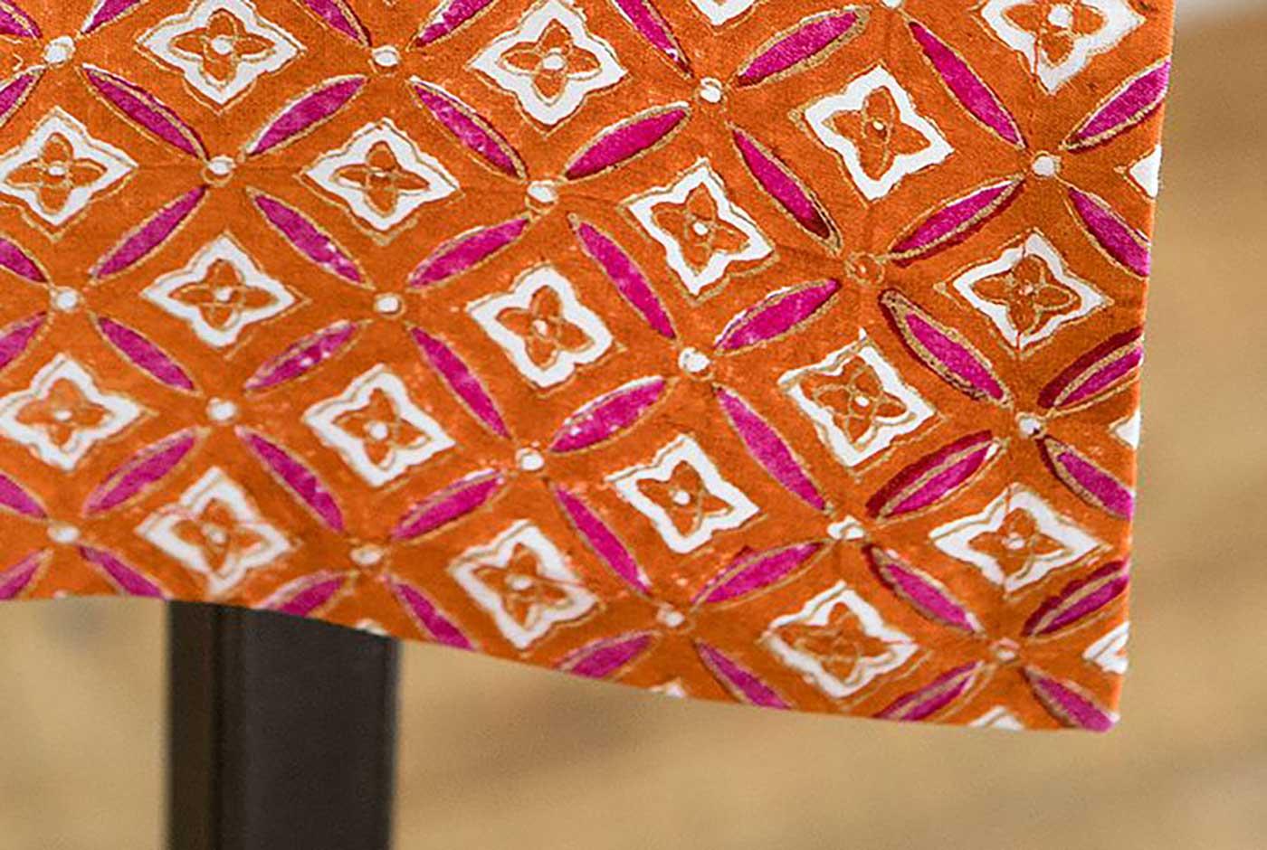 에스닉 블록프린트 테이블보A(오렌지)/생동감 넘치는 컬러의 아름다운 식탁 테이블보 상세이미지4