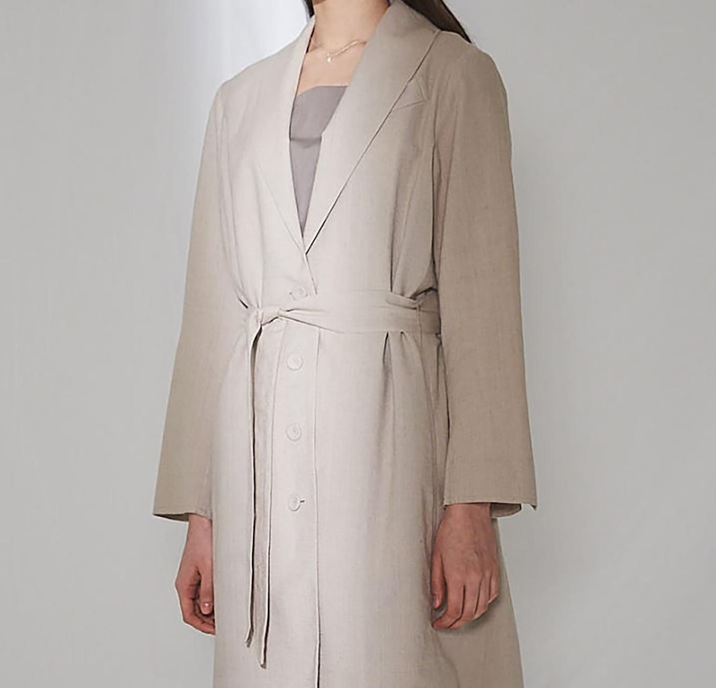 싯소 헴프 롱 재킷/심플함이 더욱 멋스러운 싯소 헴프 롱 재킷 상세이미지2