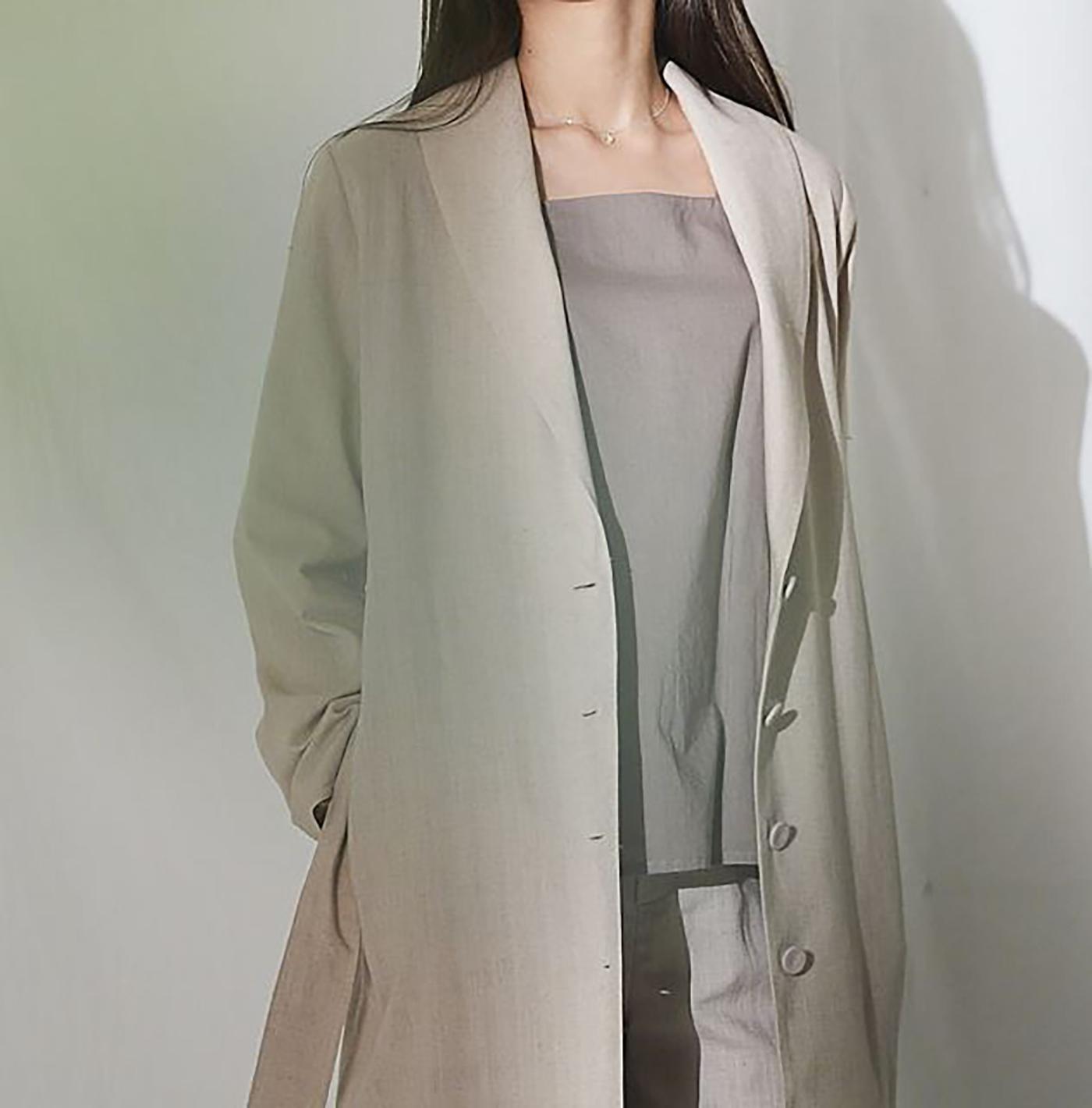 싯소 헴프 롱 재킷/심플함이 더욱 멋스러운 싯소 헴프 롱 재킷 상세이미지5
