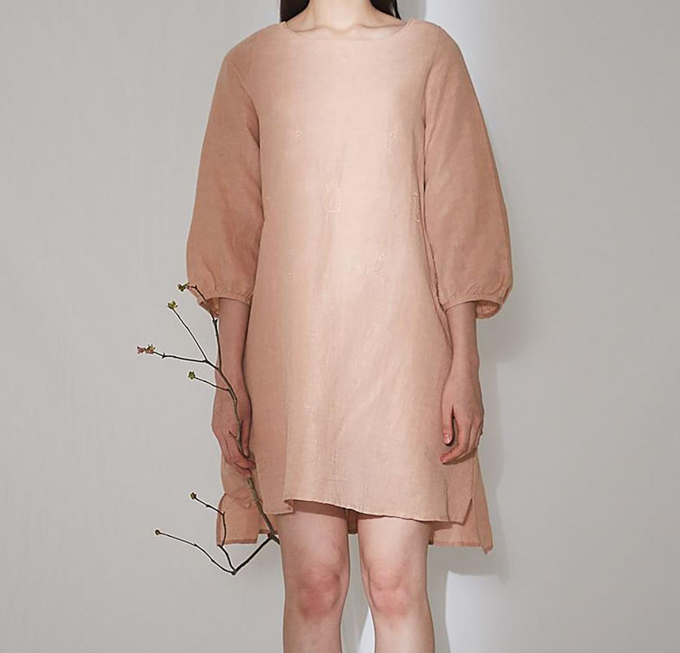 피치 치칸카리 드레스/심플하지만 사랑스러운 색감이 특징인 피치 치칸카리 드레스 상세이미지1