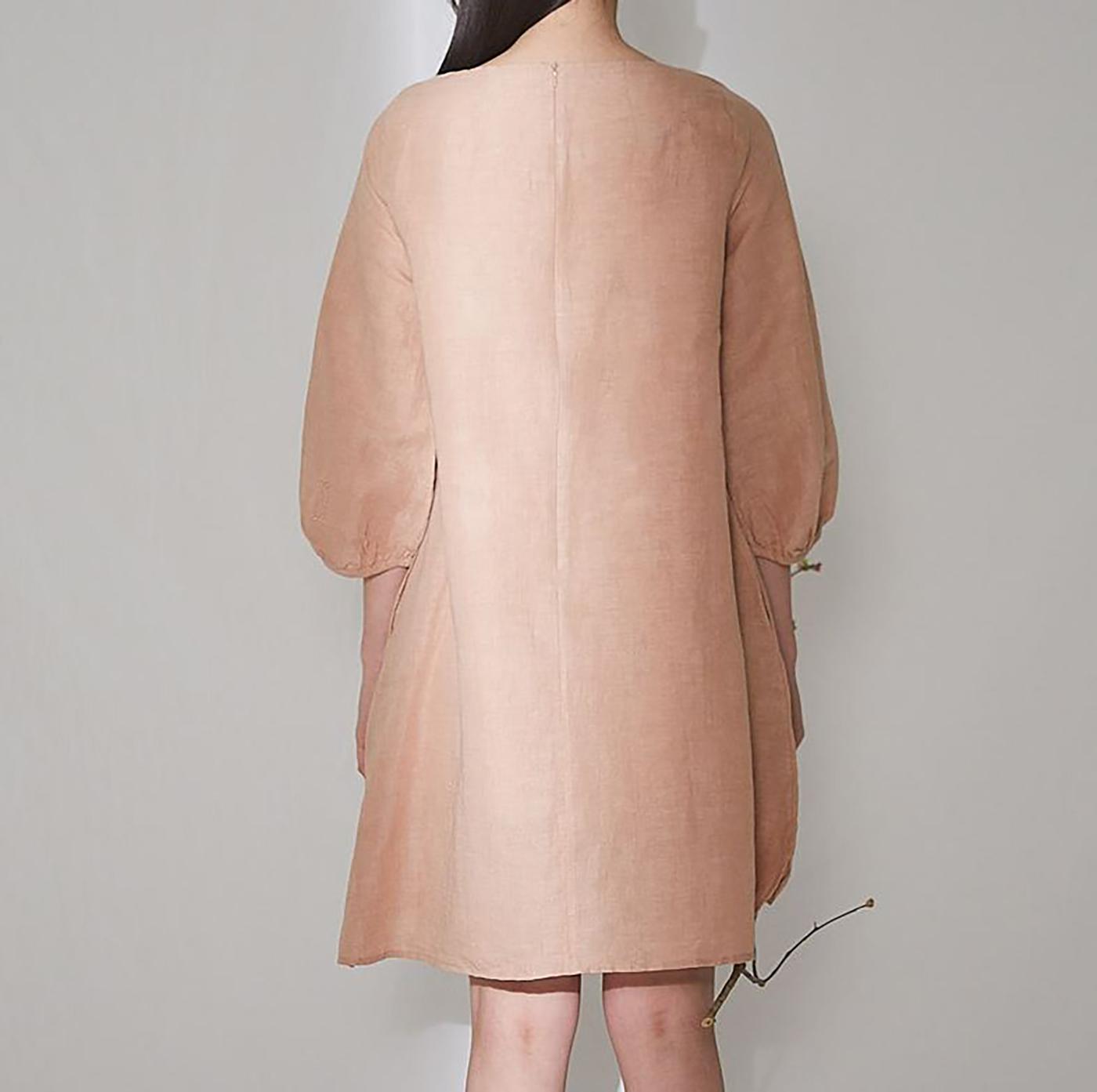 피치 치칸카리 드레스/심플하지만 사랑스러운 색감이 특징인 피치 치칸카리 드레스 상세이미지3