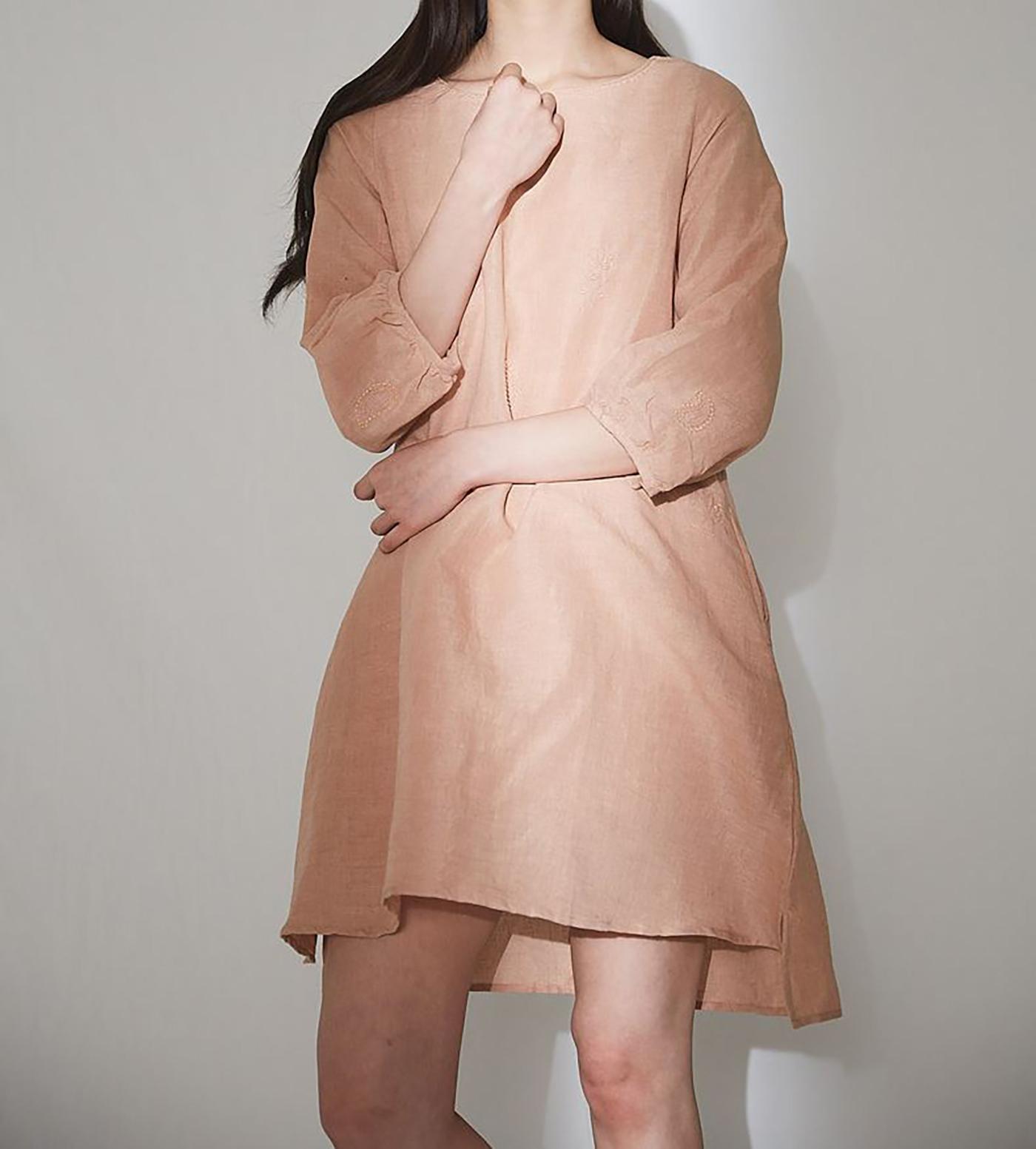 피치 치칸카리 드레스/심플하지만 사랑스러운 색감이 특징인 피치 치칸카리 드레스 상세이미지4