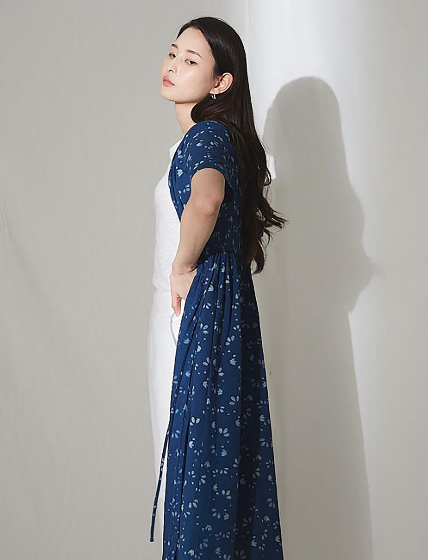 인디고 야생꽃 랩 드레스/그루 인디고 야생꽃 랩 드레스 상세이미지6