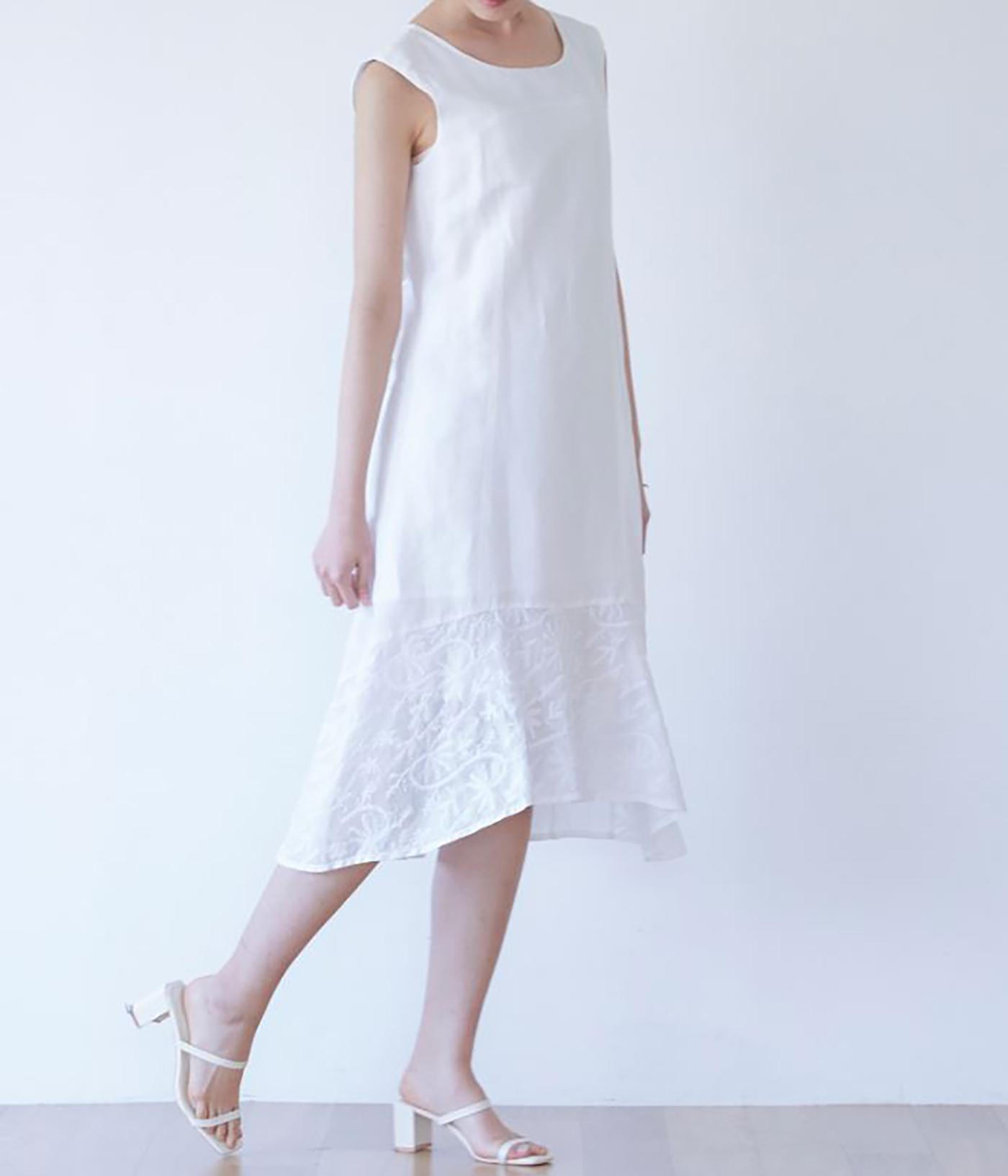 안개꽃 민소매 드레스/그루 안개꽃 민소매 드레스 상세이미지1