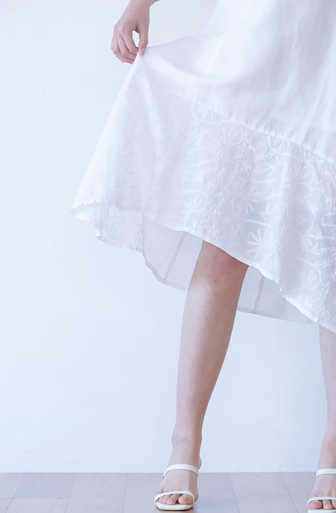 안개꽃 민소매 드레스/그루 안개꽃 민소매 드레스 상세이미지3