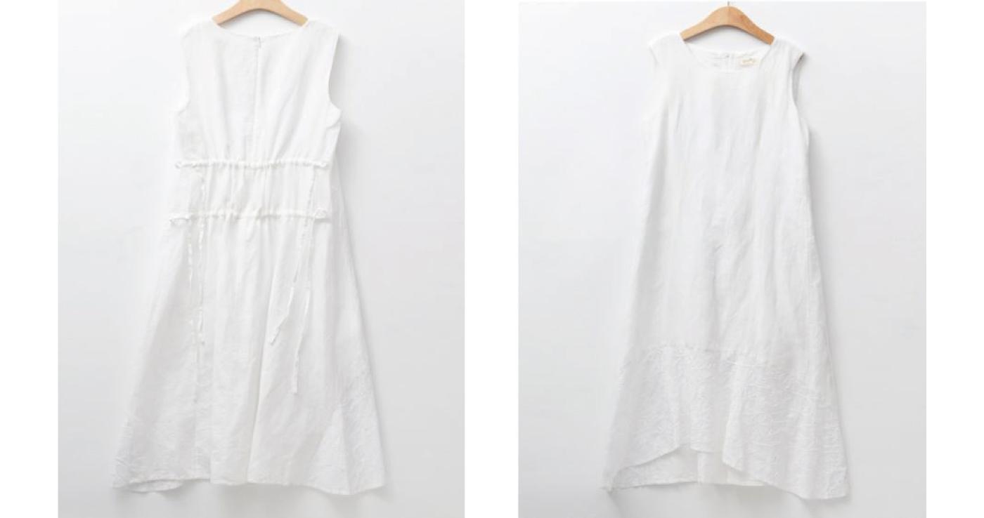 안개꽃 민소매 드레스/그루 안개꽃 민소매 드레스 상세이미지6