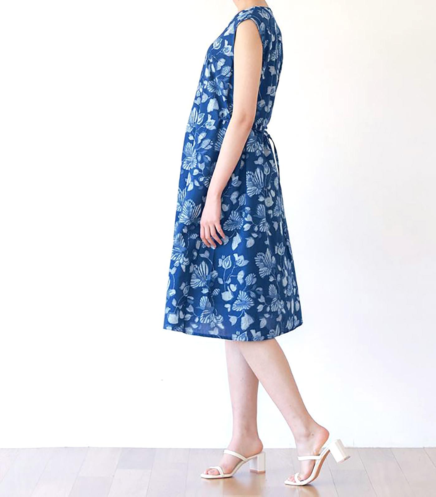인디고 꽃 민소매 드레스/그루 인디고 꽃 민소매 드레스 상세이미지3