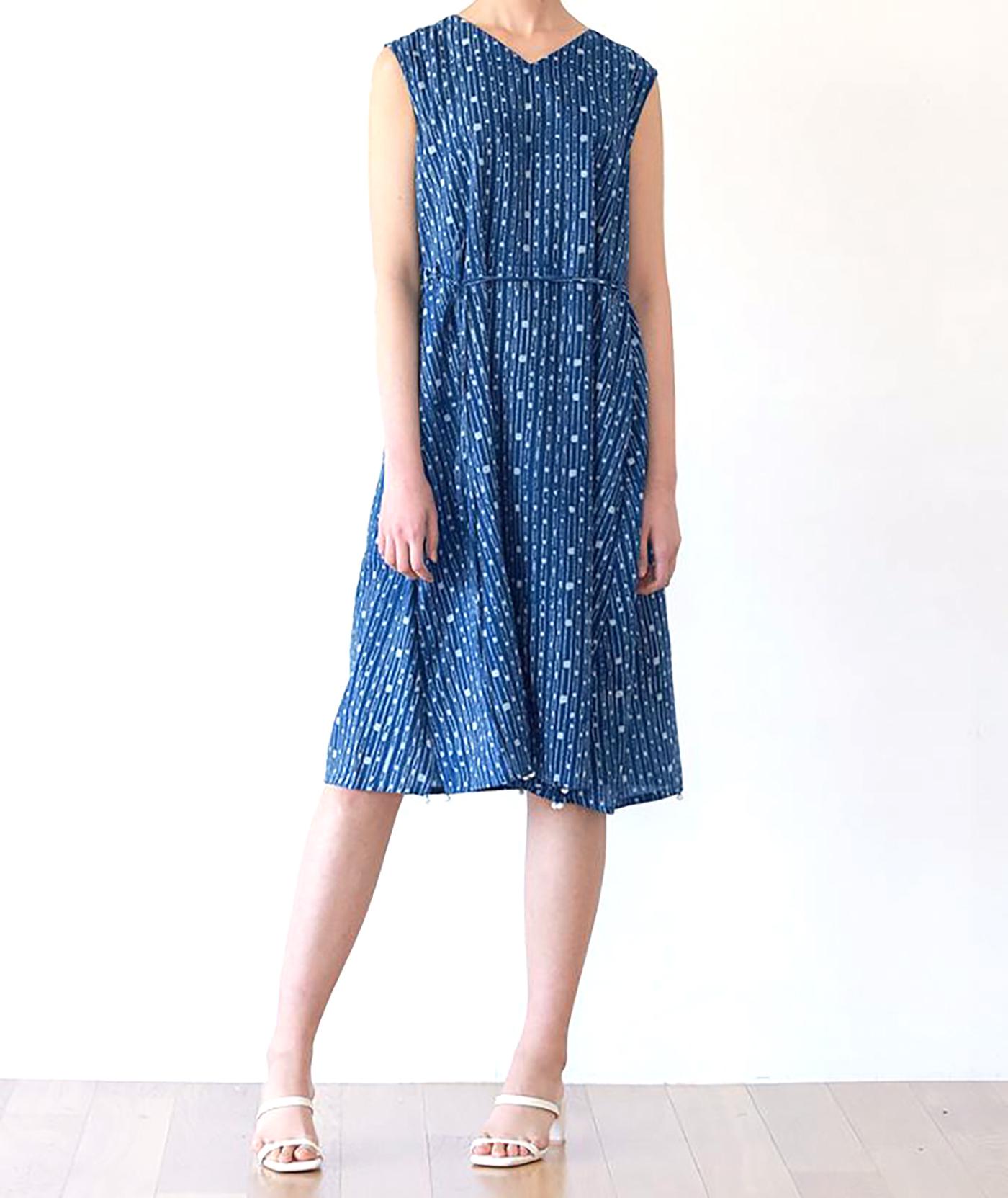 인디고 폼폼 드레스/그루 인디고 폼폼 드레스 상세이미지1