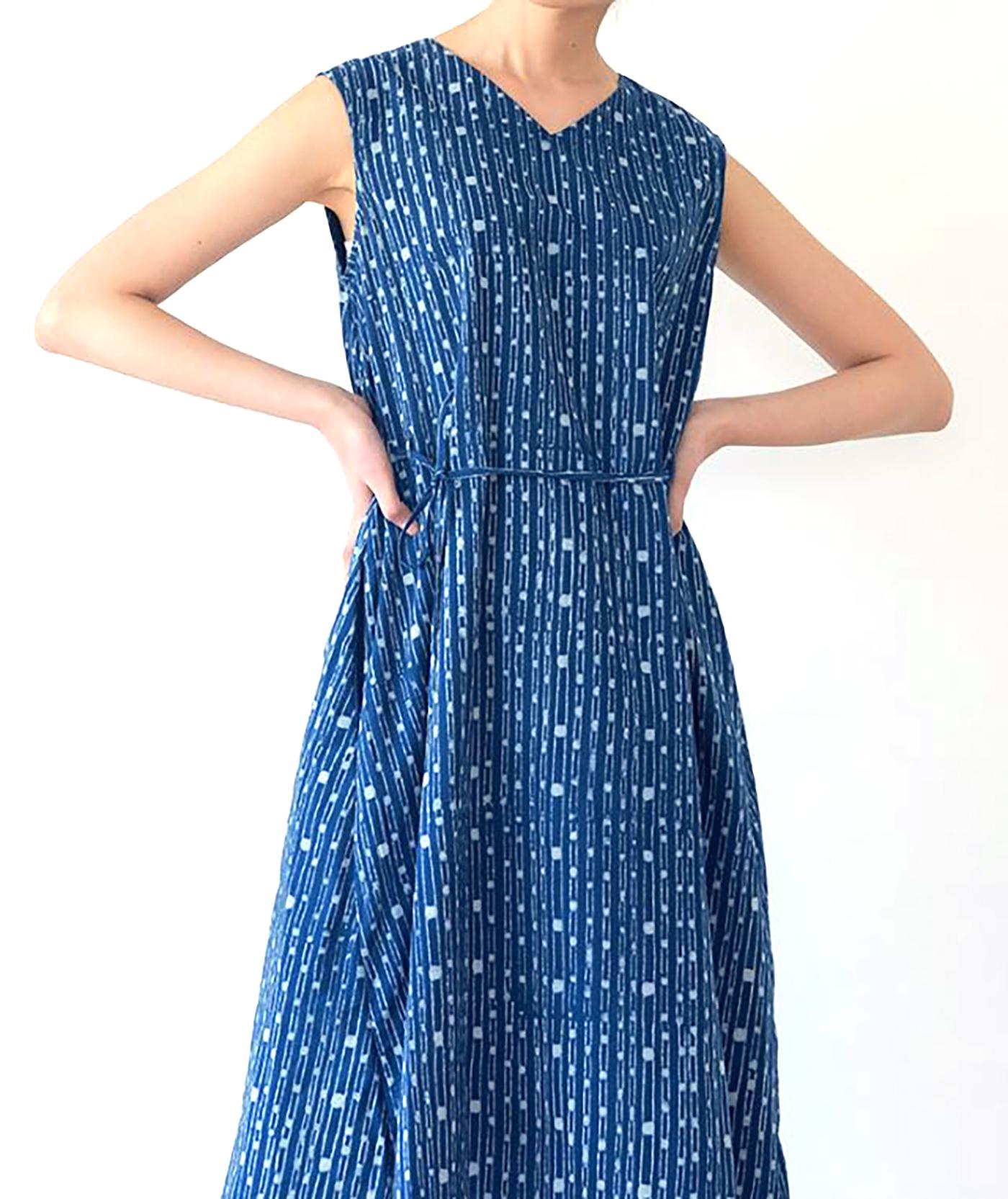 인디고 폼폼 드레스/그루 인디고 폼폼 드레스 상세이미지2