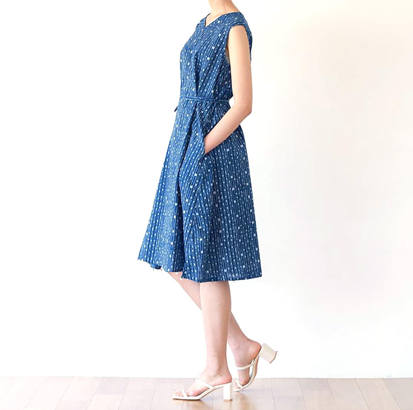 인디고 폼폼 드레스/그루 인디고 폼폼 드레스 상세이미지3