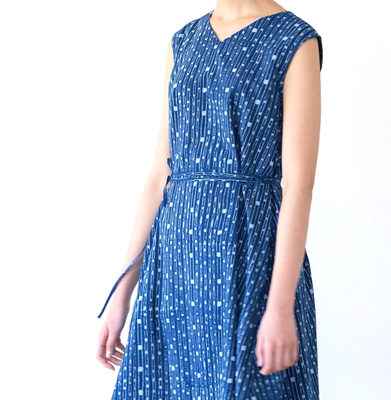 인디고 폼폼 드레스/그루 인디고 폼폼 드레스 상세이미지5