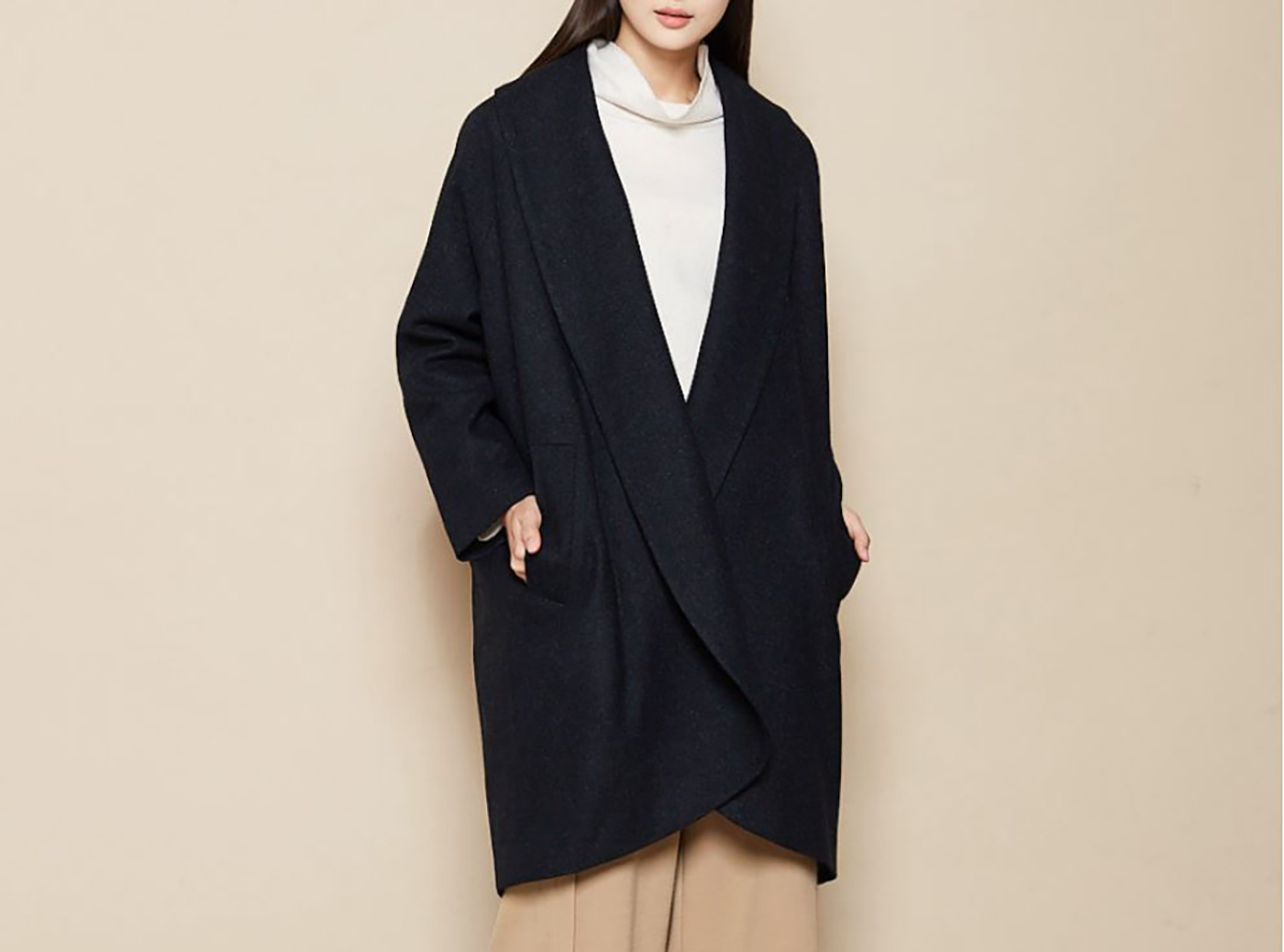 은하수 울실크 코트/요즘 같은 날씨에 입기 딱 좋은 은하수 울실크 코트 상세이미지1