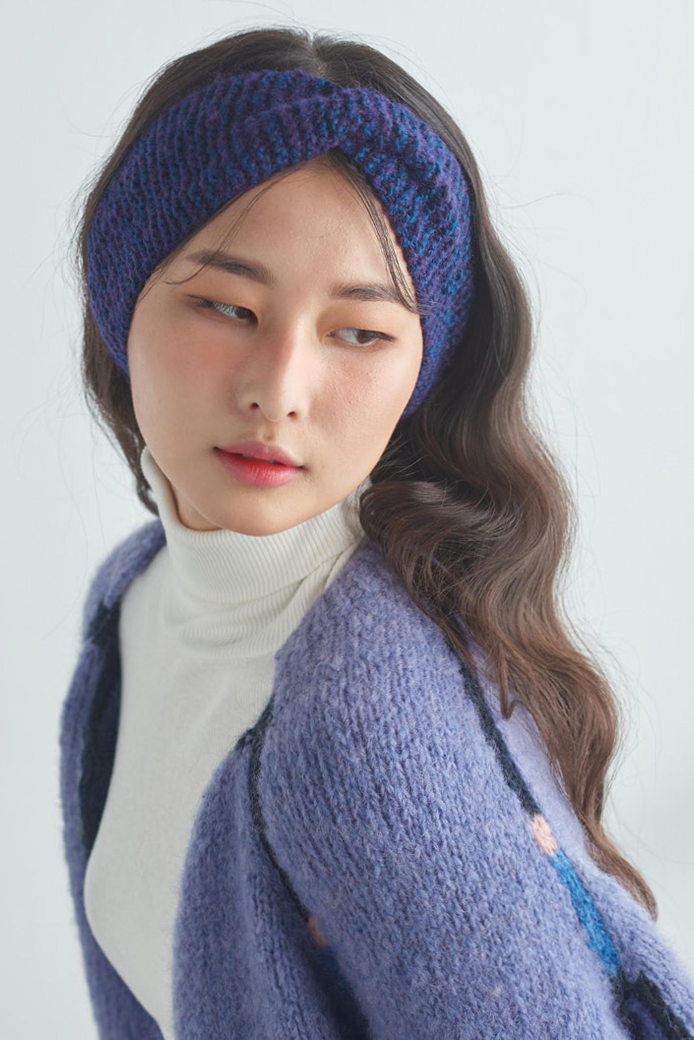 핸드메이드 꽈배기 니트 헤어밴드 모자 상세이미지4