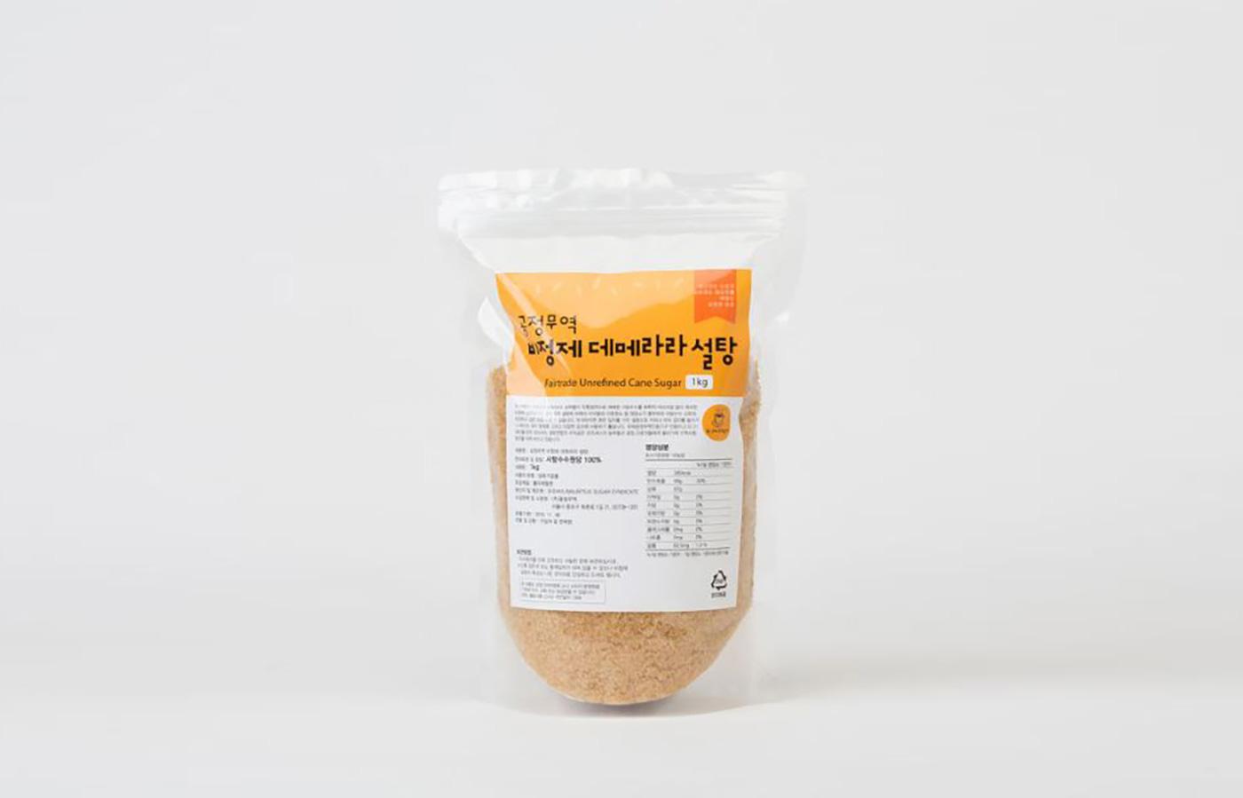 비정제 사탕수수 데메라라 설탕 원당(500g/1kg/5kg)/공정무역 비정제 설탕/사탕수수100% 화학처리NO/친환경 재배 상세이미지1