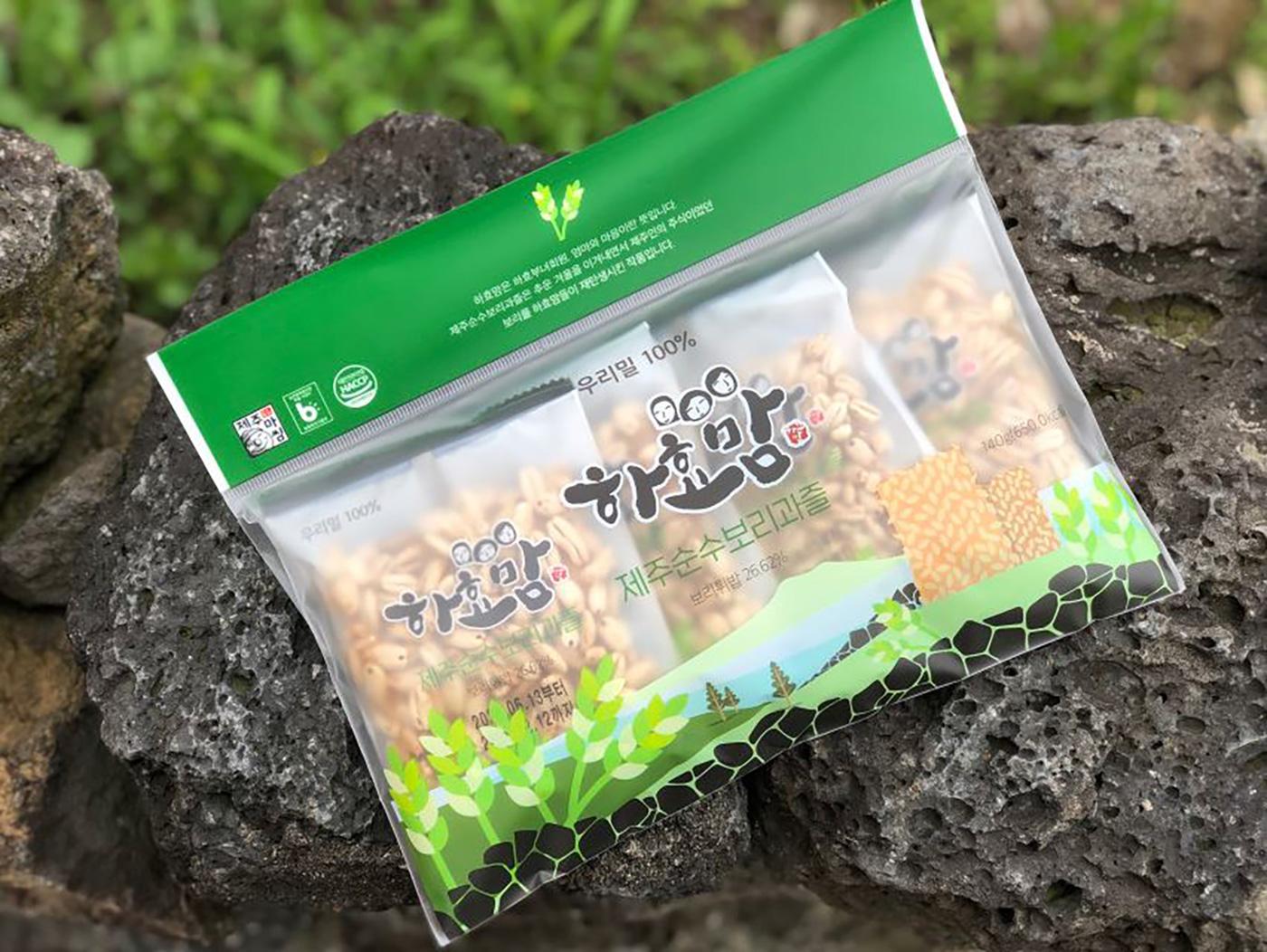 제주 보리과즐/청정 우리밀 100% 제주 전통 과자(35g*8개입)  상세이미지5