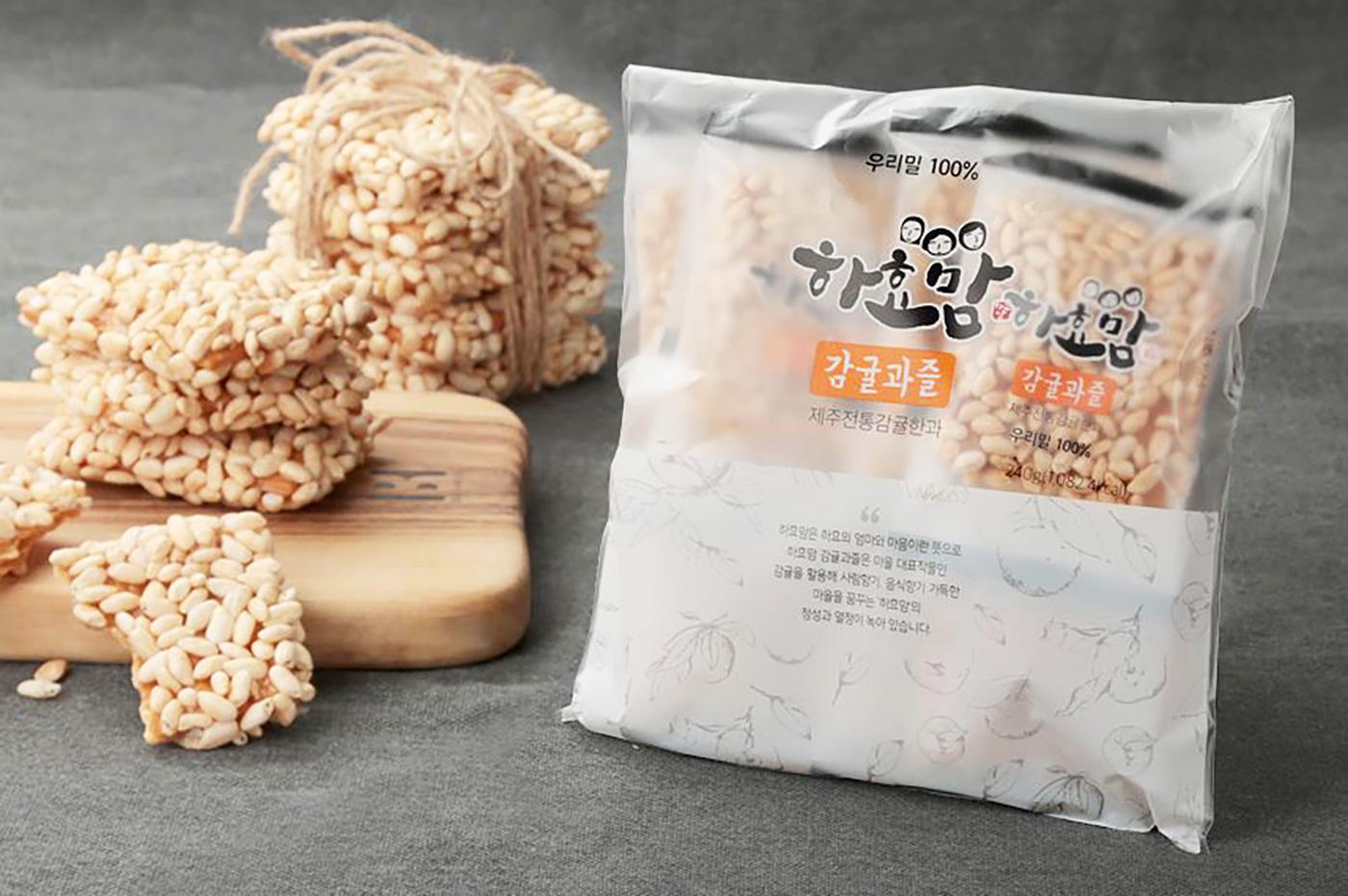 제주 감귤과즐/청정 우리밀 100% 제주 전통 과자(30g*8개입)  상세이미지2