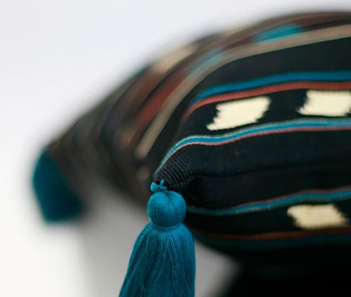 패브릭 쿠션 커퍼 아줄(M_azul)/핸드메이드 패브릭 쿠션커버(40×40cm) 상세이미지4