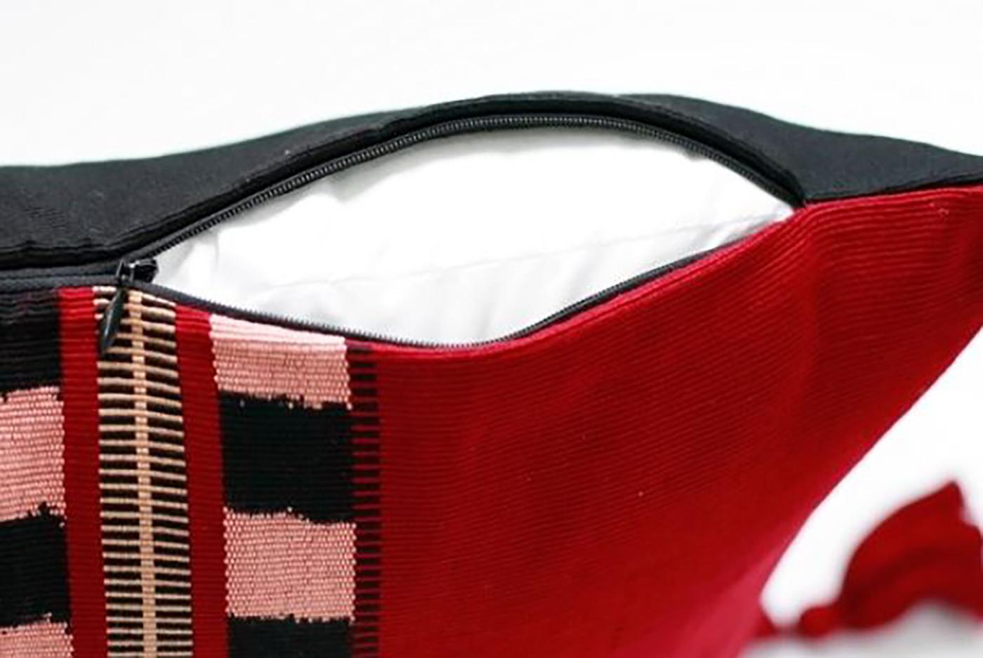 패브릭 쿠션 커퍼 로호(J_Rojo)/핸드메이드 패브릭 쿠션커버(50×30cm) 상세이미지1