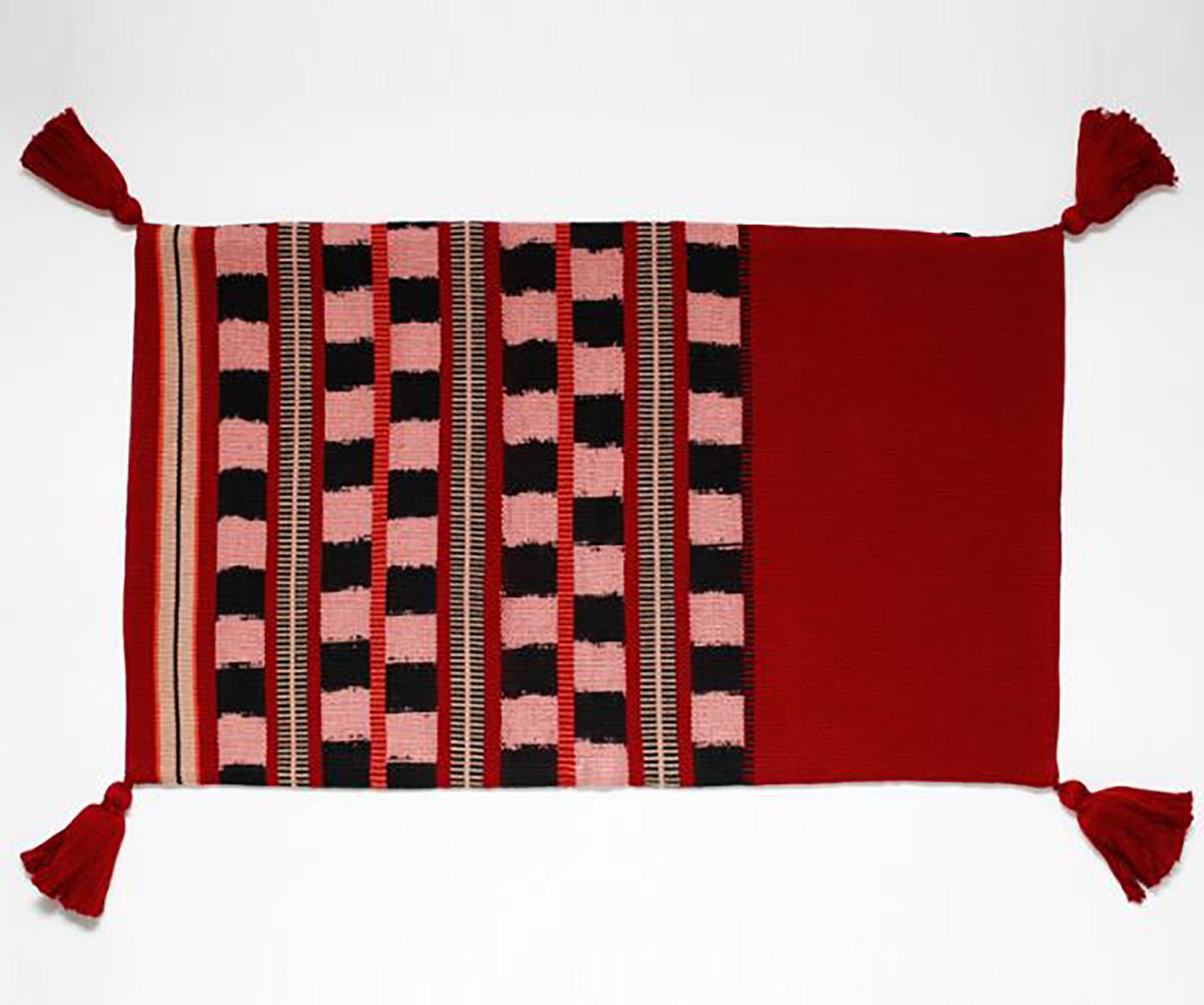 패브릭 쿠션 커퍼 로호(J_Rojo)/핸드메이드 패브릭 쿠션커버(50×30cm) 상세이미지3