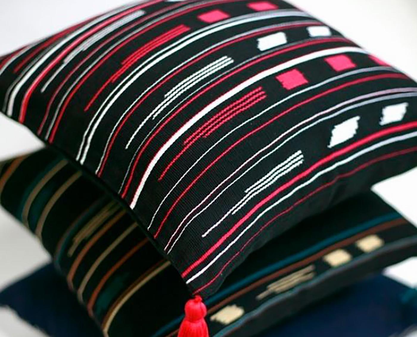 패브릭 쿠션 커퍼 로호(M_Rojo)/핸드메이드 패브릭 쿠션커버(40×40cm) 상세이미지1