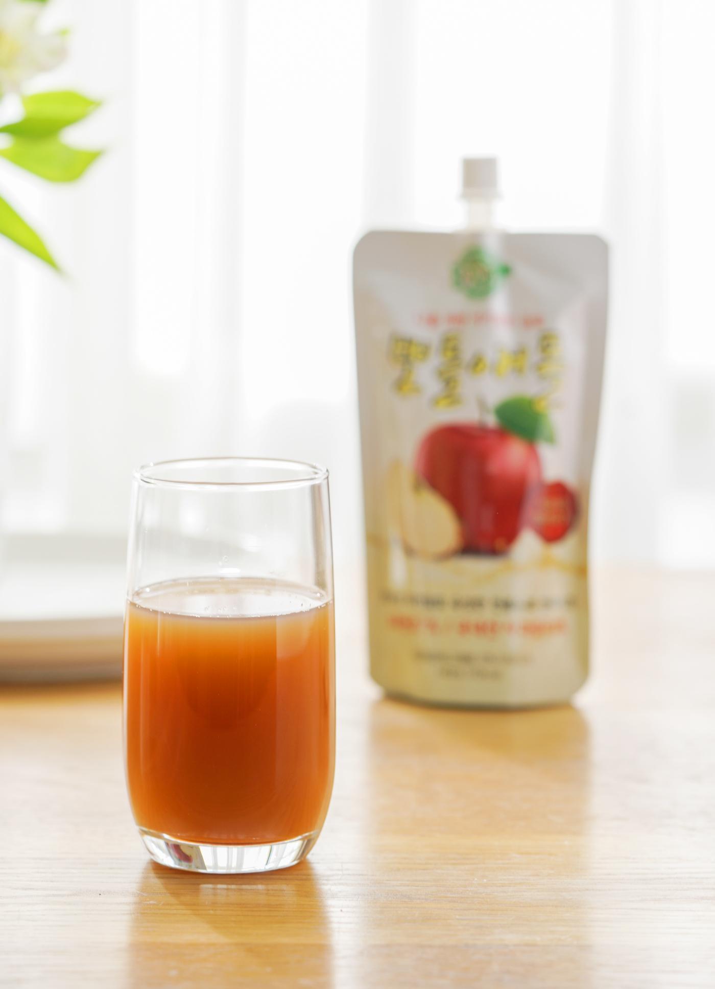 현미식초 사과즙 뽀틀애플 15포(150ml)/국내산 사과즙 93%와 현미식초 7%로 이루어진 전통 건강 음료 15포 박스(150ml*15포) 상세이미지2