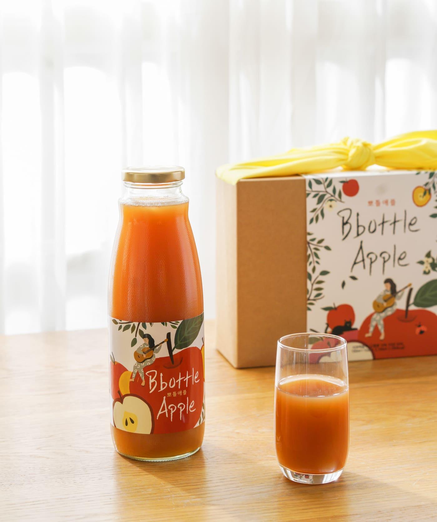 현미식초 사과즙 뽀틀애플(1000ml)/국내산 사과즙 93%와 현미식초 7%로 이루어진 전통 건강 음료 상세이미지2