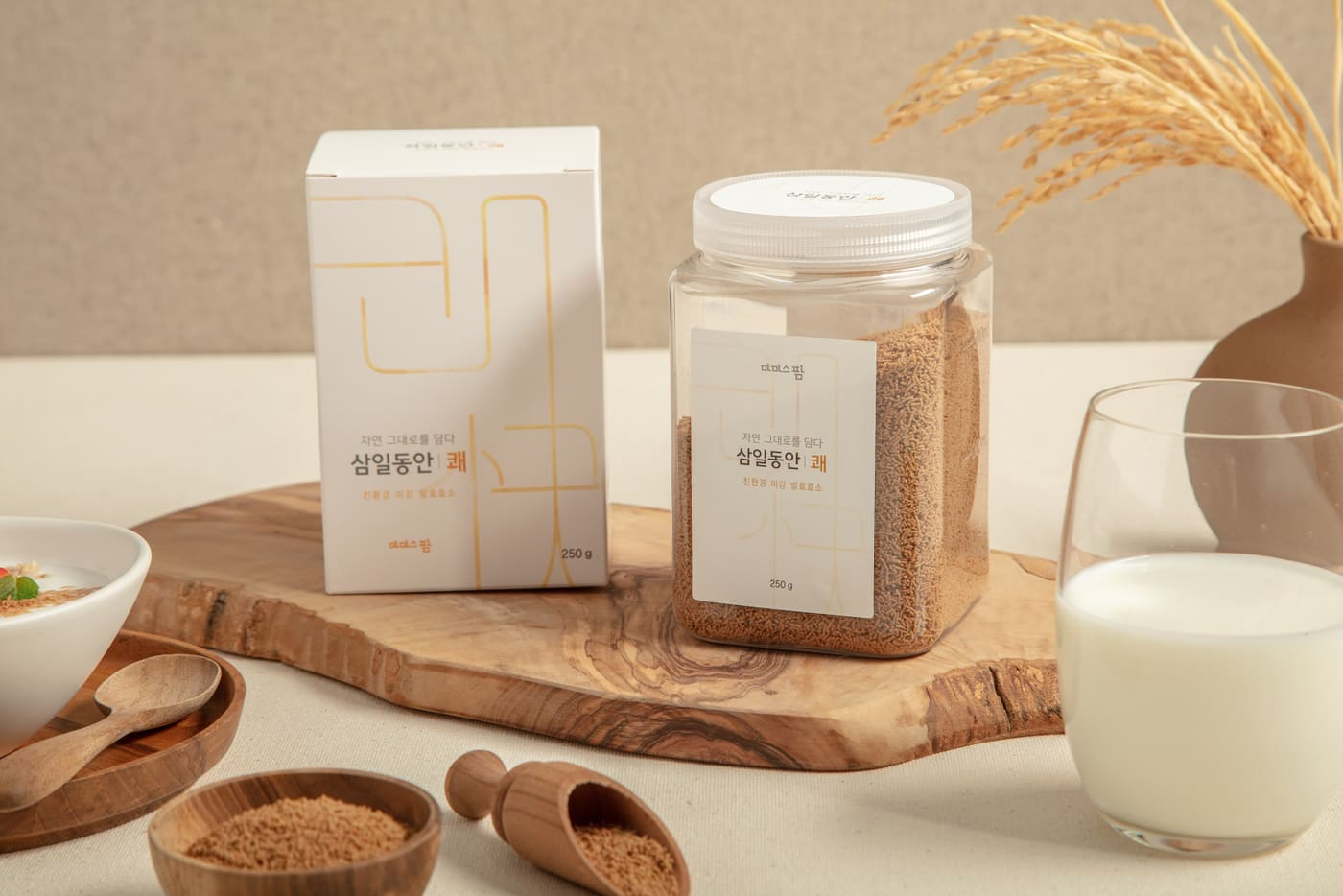 삼일동안 쾌(快) / 식이섬유 영양만점 쌀눈/쌀겨 '미강'으로 만든 발효 효소 가루 상세이미지1