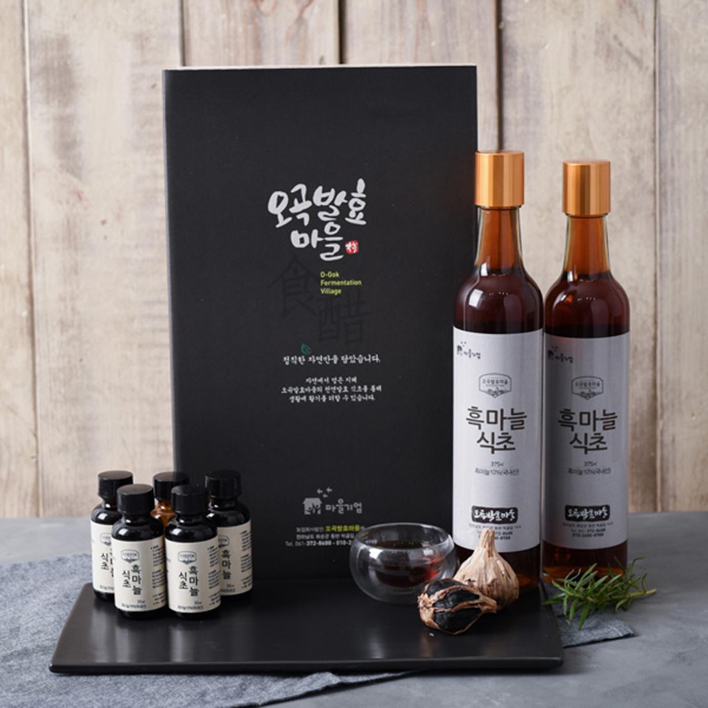 천연 오곡발효 흑마늘 식초(150ml/375ml) 상세이미지1
