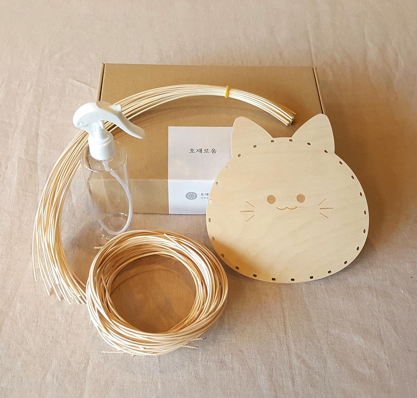 라탄 트레이 DIY 키트(고양이/고래) 상세이미지1