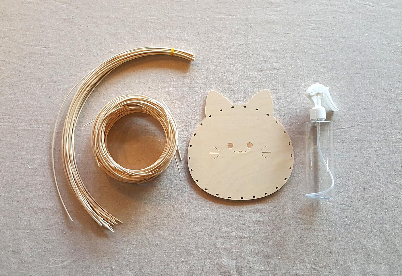라탄 트레이 DIY 키트(고양이/고래) 상세이미지3