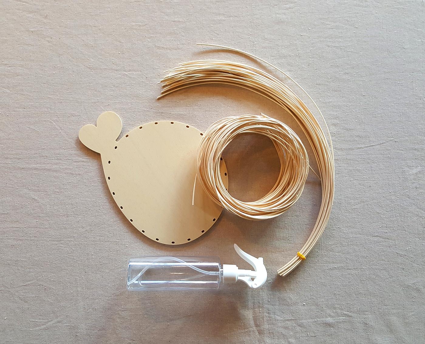 라탄 트레이 DIY 키트(고양이/고래) 상세이미지5