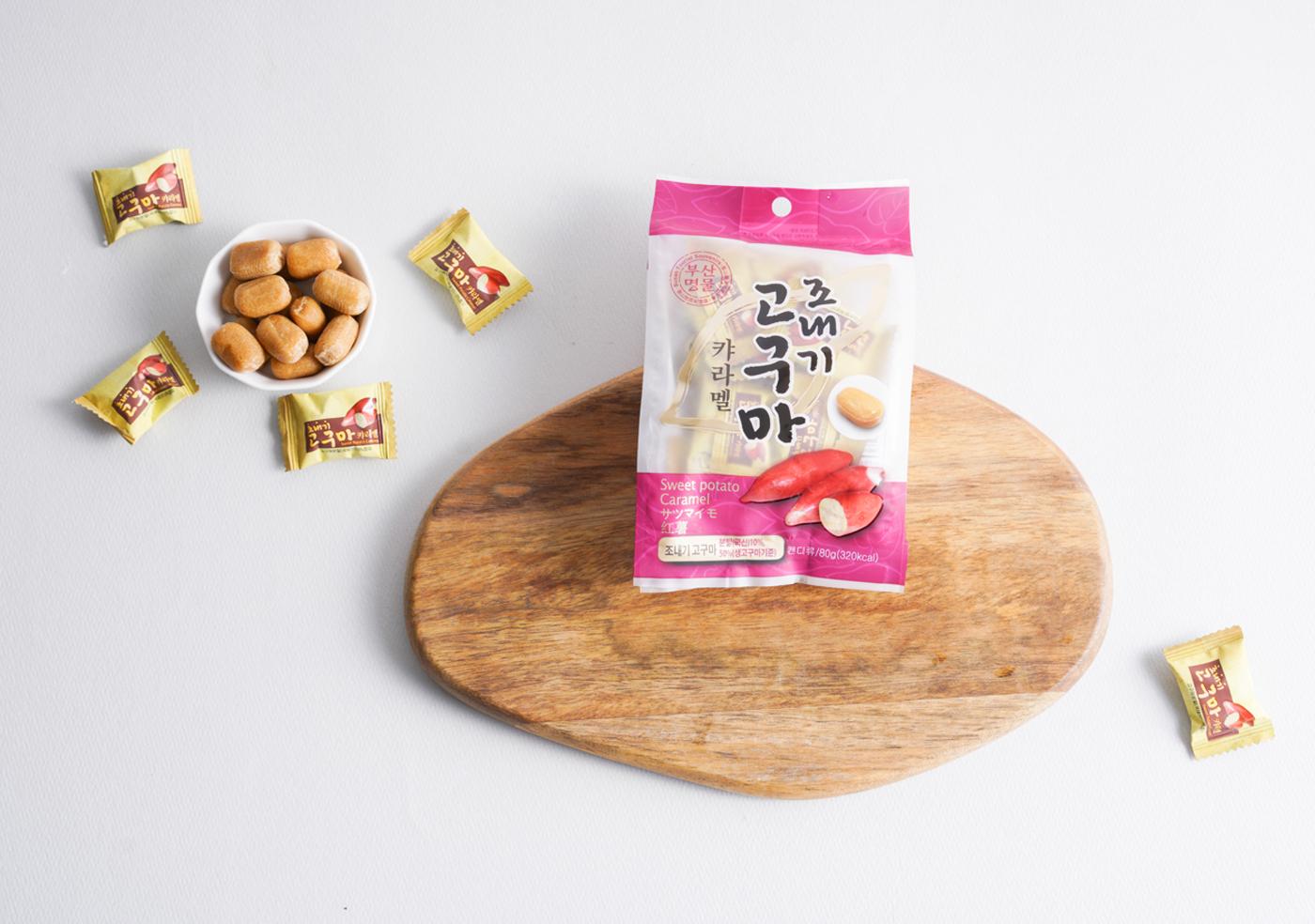 조내기 고구마 카라멜(80g)/고구마 50%가 함유되어 이에 달라붙지 않는 달콤 카라멜 상세이미지1