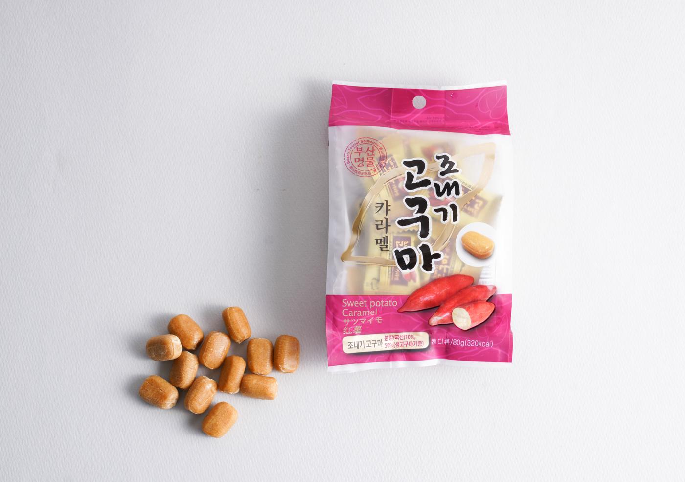 조내기 고구마 카라멜(80g)/고구마 50%가 함유되어 이에 달라붙지 않는 달콤 카라멜 상세이미지2