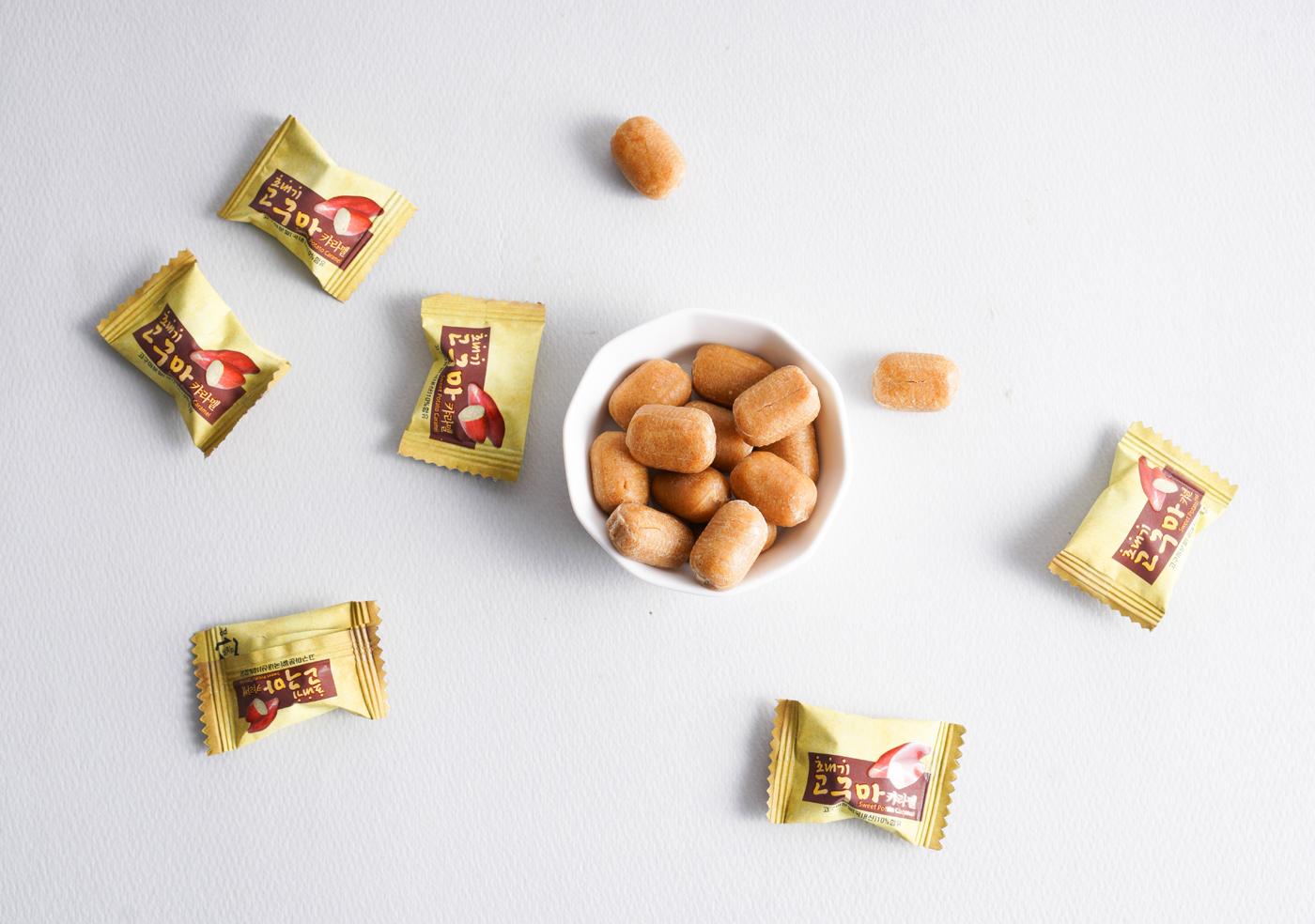 조내기 고구마 카라멜(80g)/고구마 50%가 함유되어 이에 달라붙지 않는 달콤 카라멜 상세이미지3