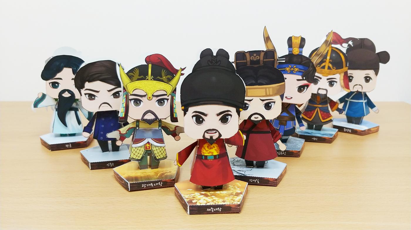 역사 속 위인과 함께하는 마법 페이퍼 토이/역사 위인이 살아 움직이는 재미있는 페이퍼 장난감 상세이미지4