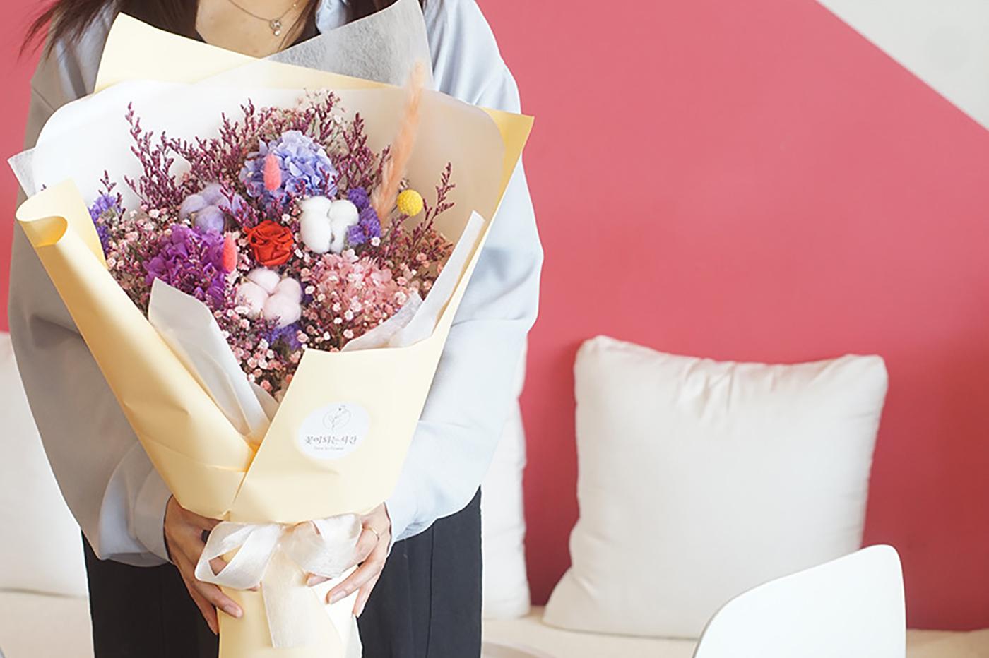 프리저브드 플라워 꽃다발 상세이미지1