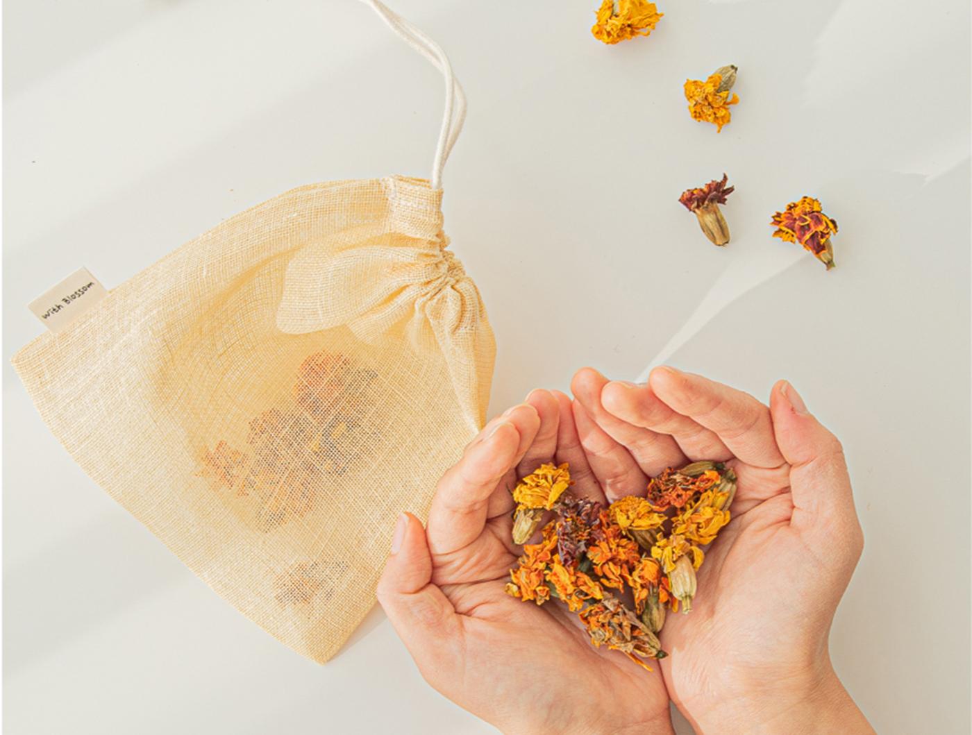 메리골드&라벤더 천연 입욕제/직접 재배한 메리골드 천연 입욕제(메리골드10g+라벤더2g) 상세이미지1