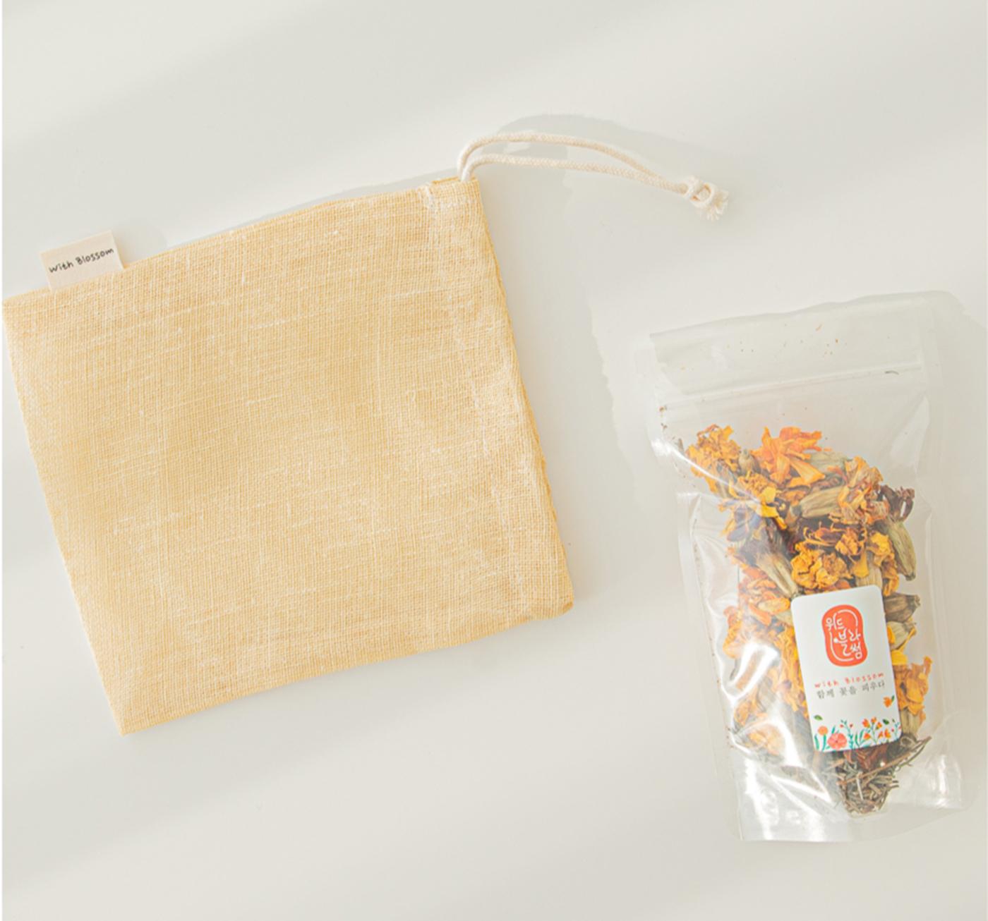 메리골드&라벤더 천연 입욕제/직접 재배한 메리골드 천연 입욕제(메리골드10g+라벤더2g) 상세이미지3