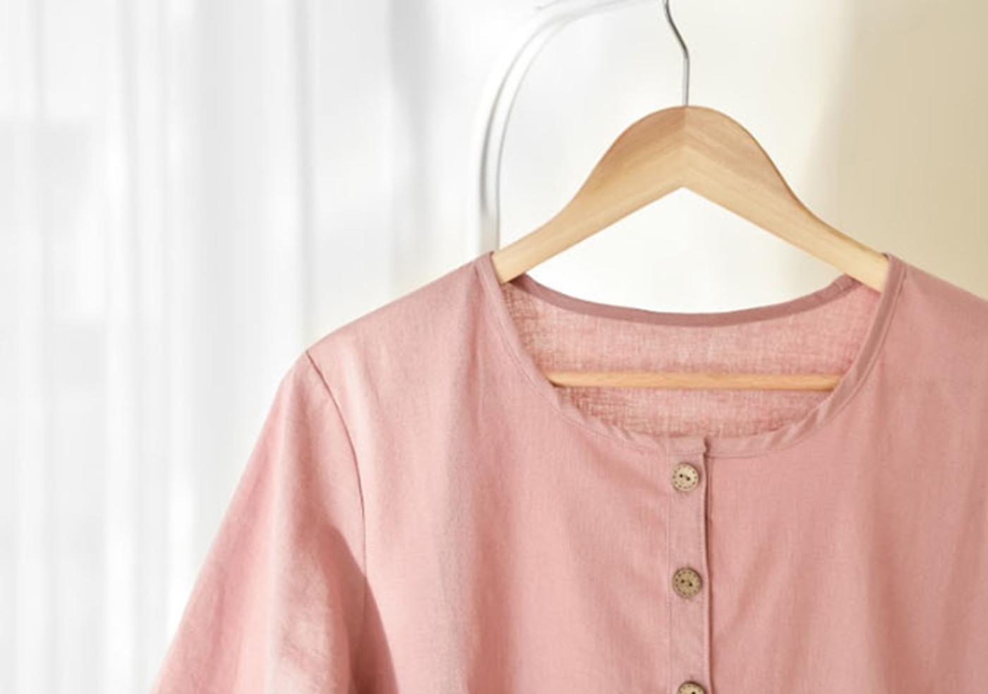 여성 광목 원피스 실내복(핑크)/실내복과 잠옷으로 활용하는 여성 홈웨어 원피스(핑크) 상세이미지3